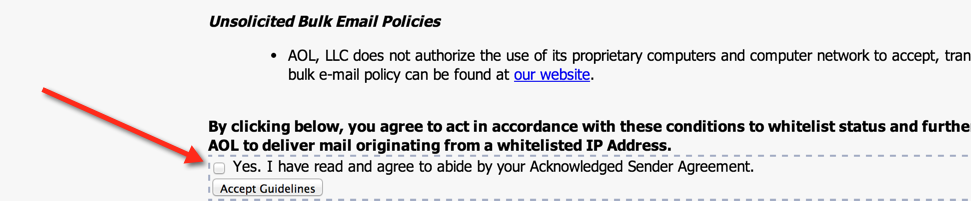 AOL Whitelisting | GreenArrow Engine