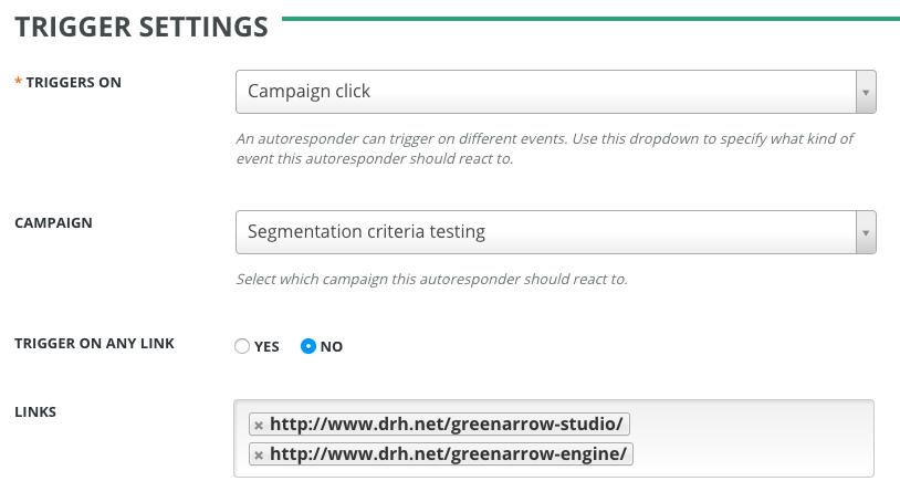 Trigger Autoresponder on Campaign Click