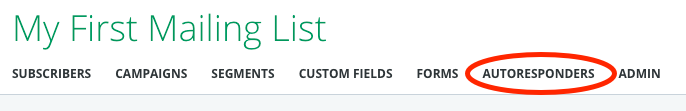 Mailing List Autoresponders Link