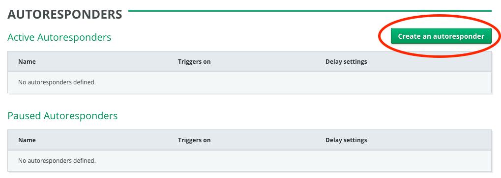 Create an autoresponder button
