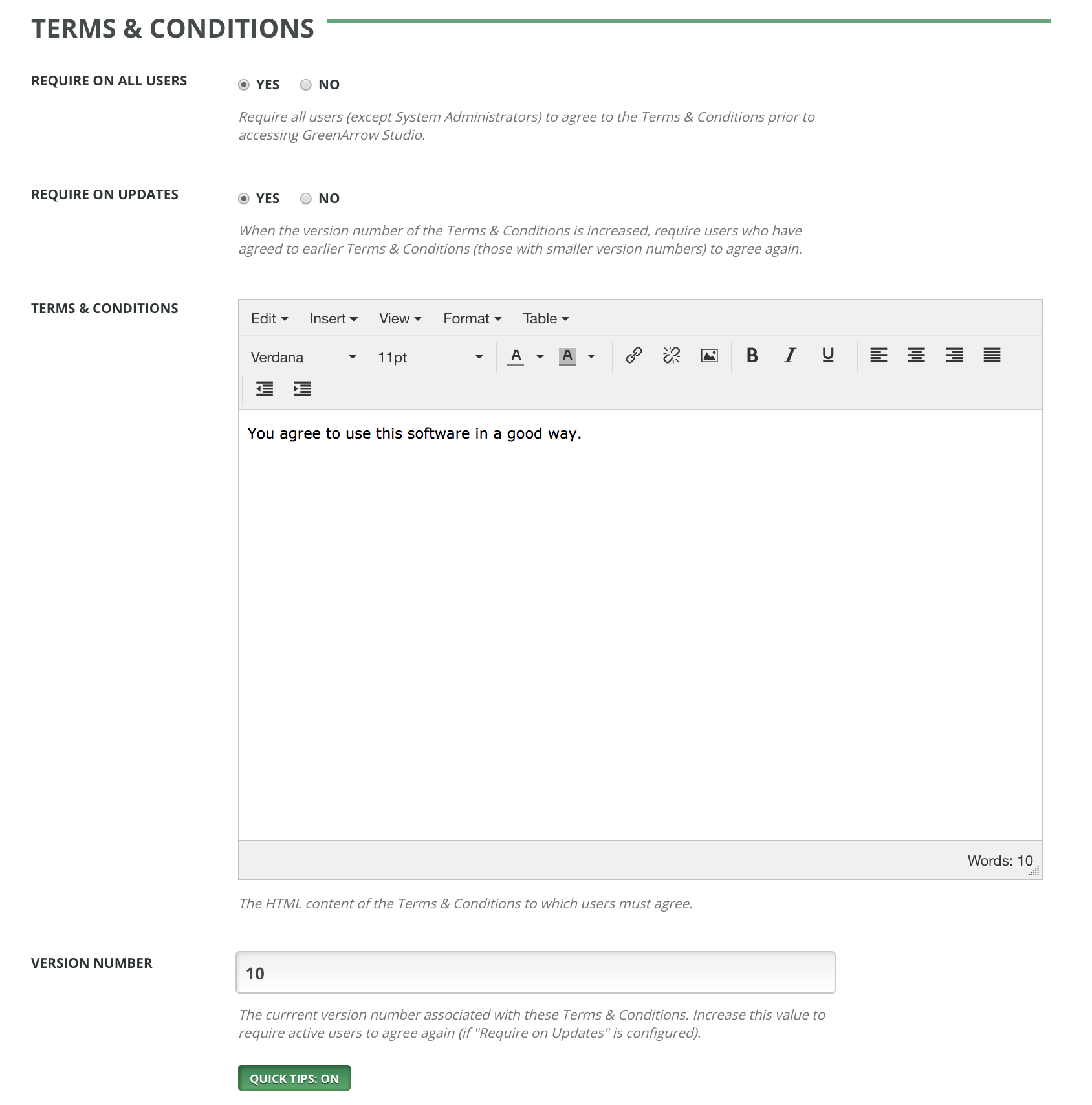 Terms & Conditions - Expanded